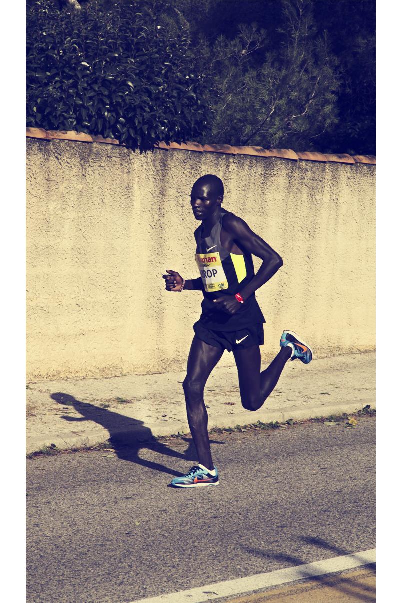 Puis Kirop Kenyan 3ème de la course du Marseille-Cassis