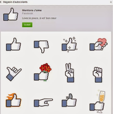 Bouton « Dislike » disponible sur la messagerie Facebook