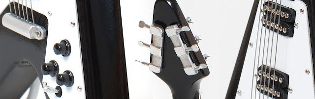 иниатюрная копия гитары Gibson Flying V. Ручная работа. Hande made. Кирилл Росляков