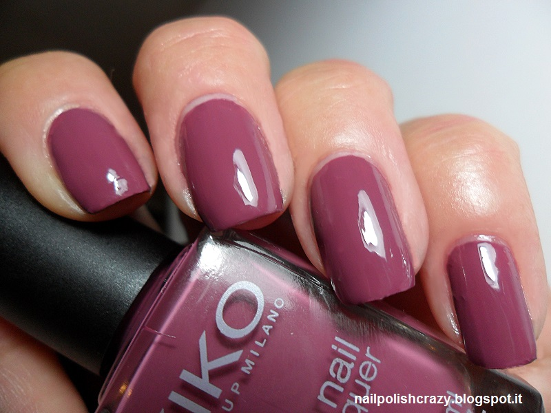 Molto nail polish crazy : Kiko- 317 Rosa Antico Scuro AO08