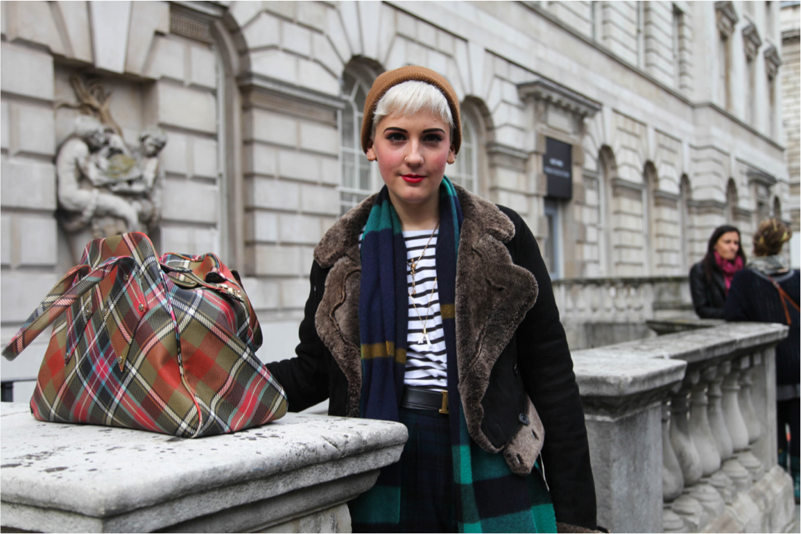 London Fashion Week streetstyle fur collar