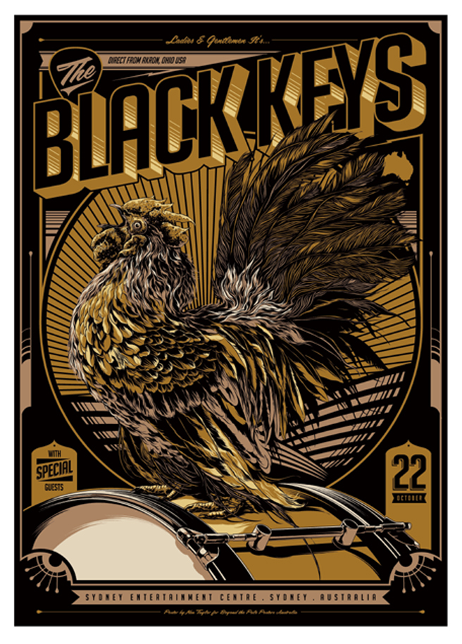 INSIDE THE ROCK POSTER FRAME BLOG: The Black Keys Australian tour Ken ...
