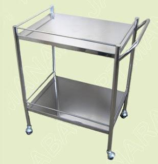 Meja Instrumen Stainless Steel 2 Susun