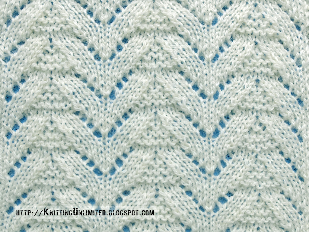 Knitting Stitches Eyelet Lace : Lace Stitches for Spring 2016 - Pattern 8/10 - Knitting Unlimited