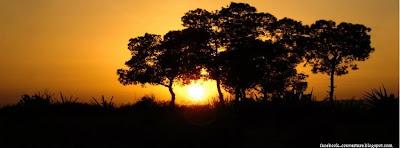 Couverture facebook coucher de soleil en Afrique