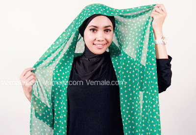 Cara Memakai Hijab Jilbab Pashmina Styles Chiffon Modern Dalam 3 Langkah