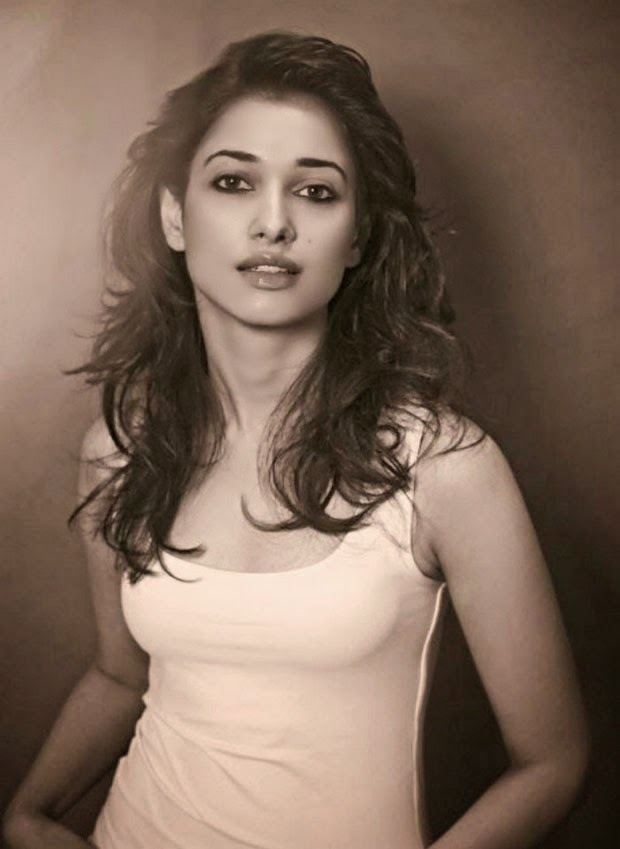 Tamanna Bhatia Hot  and Sexy Wallpaper in White top