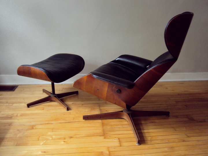 str8mcm Plycraft Lounge Chair and Ottoman