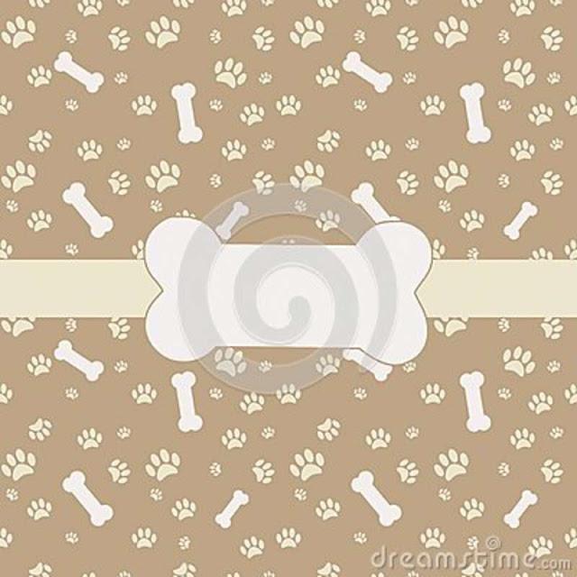 Background Of Dog Bones N Feet Prints2