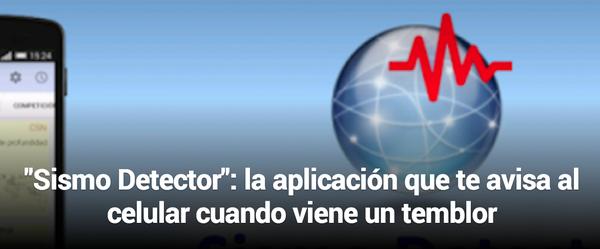 App SISMO DETECTOR Avisa la llegada de un sismo -Android