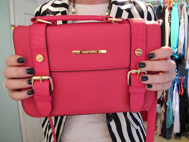 RIVER ISLAND PINK MINI SATCHEL #OOTD