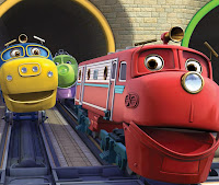 Colorea los trenes