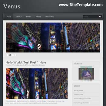 Venus Blogger Template. featured content blogger template