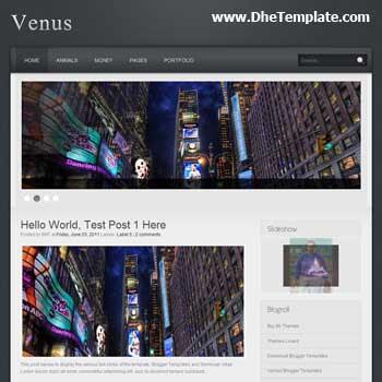 Venus Blogger Template. featured content blogger template