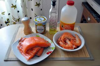 Salmon con naranjas