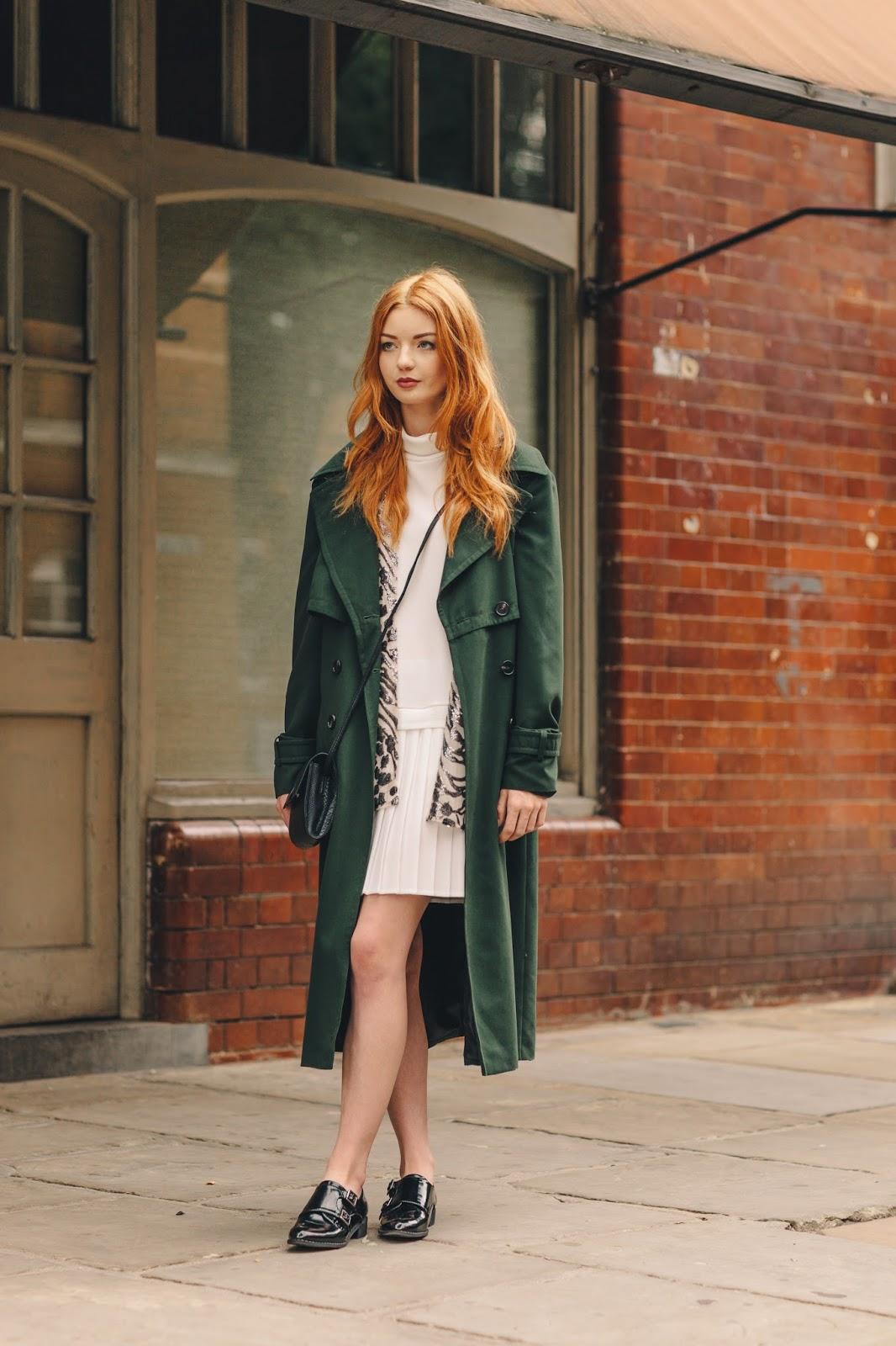 Green trench coat primark