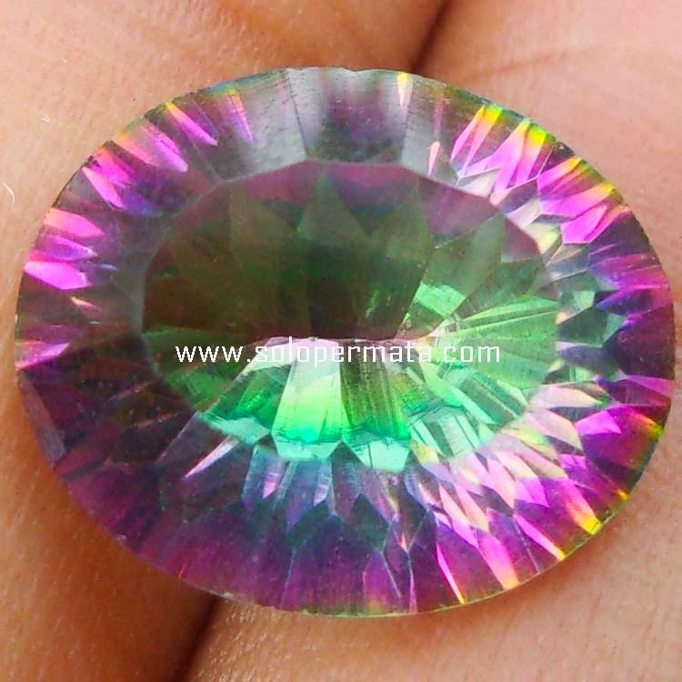 Batu Permata Rainbow Mystic Quartz - Sp073