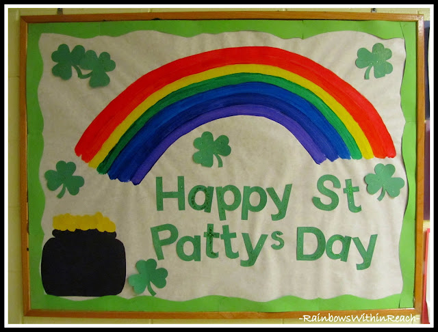 "photo of: ""Happy St. Patty's Day"" Bulletin Board at RainbowsWithinReach"