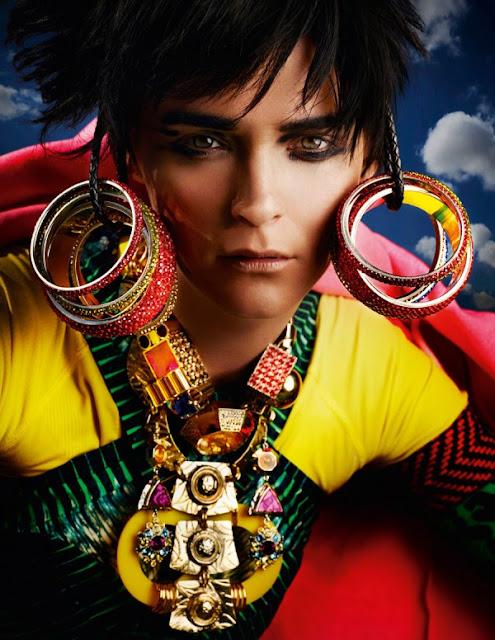 Mario Testino, Carmen Kass, Lucinda Chambers, British Vogue, editorial