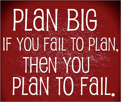 If you fail to plan, then you plan to fail ... Plan Big !