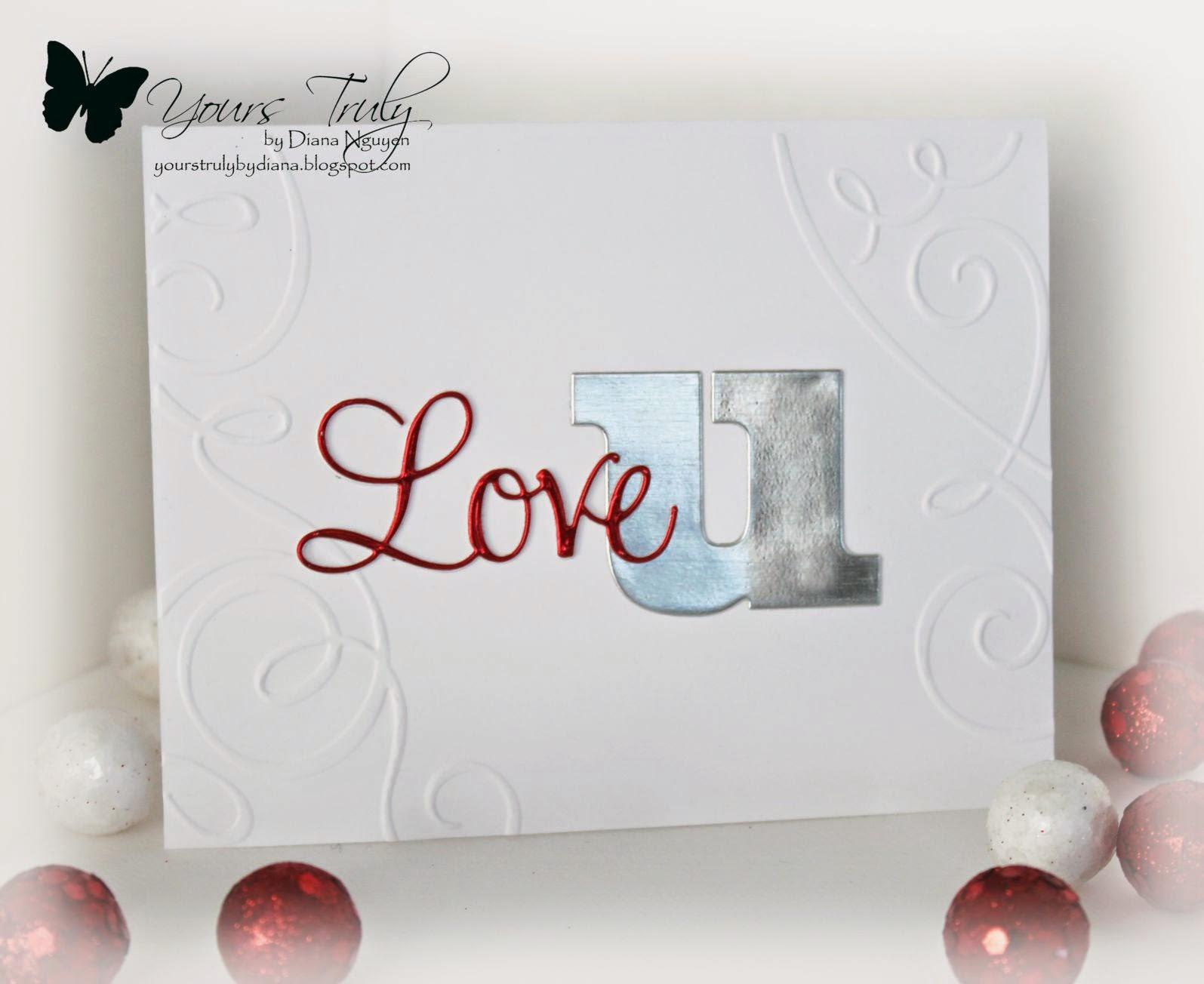 Diana Nguyen, Penny Black, love, Verve, CAS, card