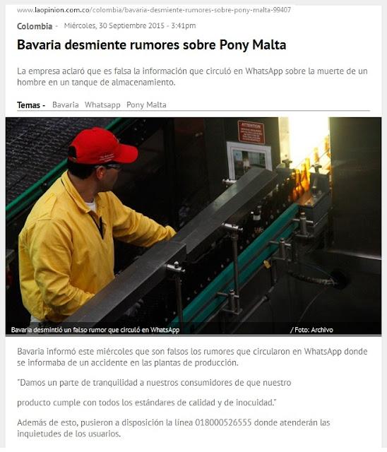 Alerta! ¿Qué pasa con la PonyMalta en Colombia? « Servicio Público ☼ audio #FélixContrerasTelevisión