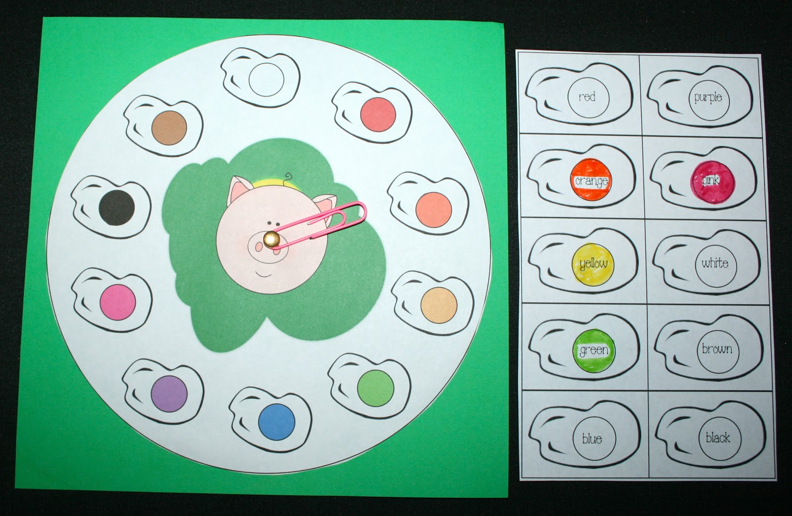 Classroom Freebies: Seuss\' Green Eggs and Ham Color Packet