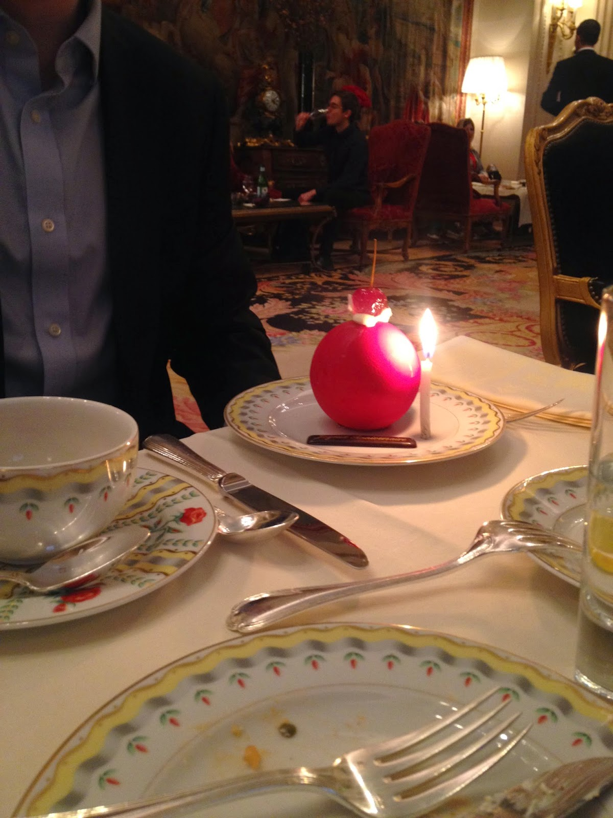 Birthday surprise at La Galerie, Four Seasons Hotel George V, Paris
