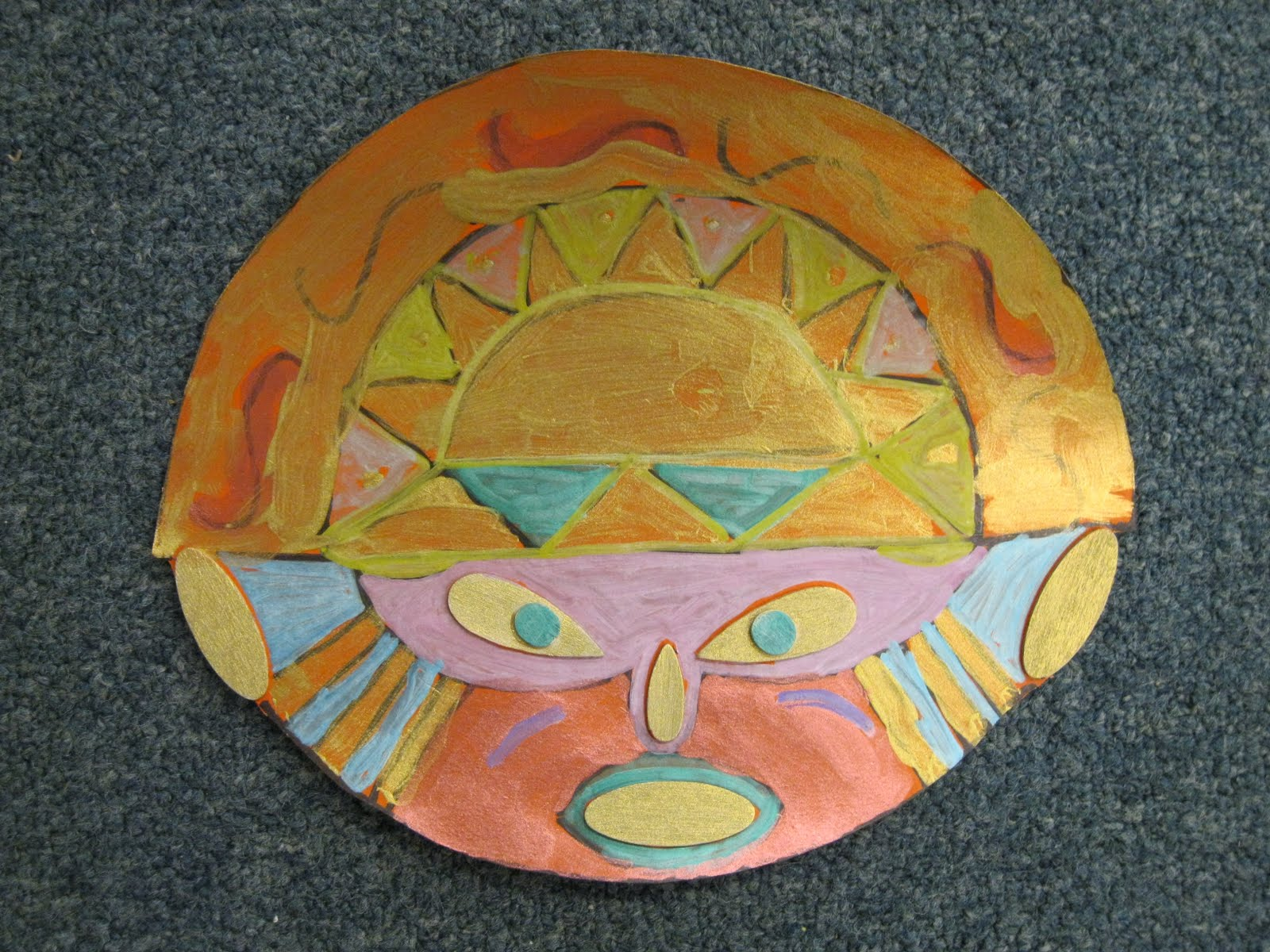 Color, collage, and much more: Incan Inti Masks