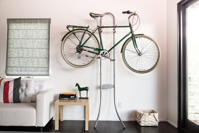 gravity bicycle storage rack