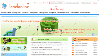 Ipanel Online ~ Ikut Survey Dapat Dollar