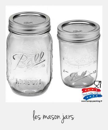 Pot Mason jar grand modèle USA