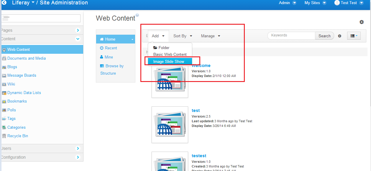Liferay 6 2 Web Content Aui Carousel Structure And