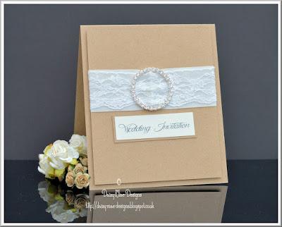 lace,kraft, cream, wedding, CAS