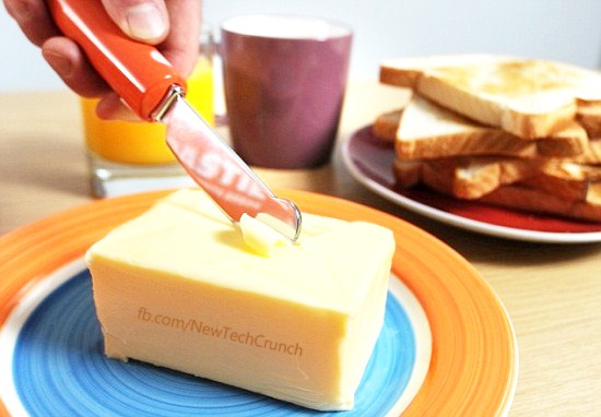 warburtons heated butter knife