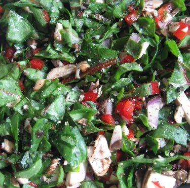 chopped chard and mixed veg