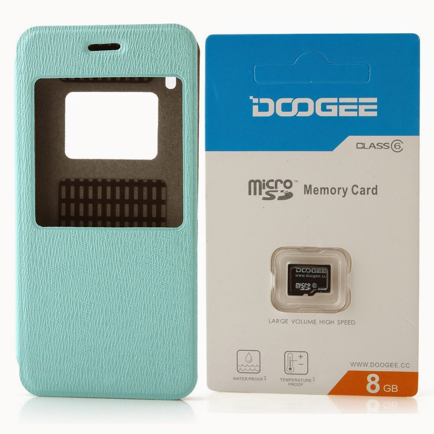 8GB TF Card Memory Card + Protective Flip Cover Case for DOOGEE DG800 Smartphone