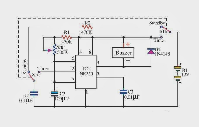 the basic delay timer circuits using ic