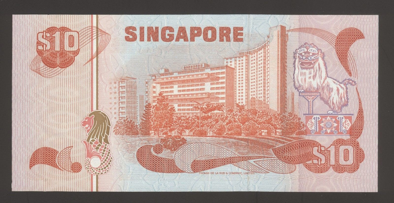 Singapore 10 Dollar note Bird Series