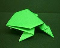 Hướng dẫn cách gấp giấy Origami - Hình con cóc (con ếch) biết nhảy đơn giản