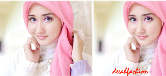 Jilbab Pink ala Dian Pelangi Soft Style