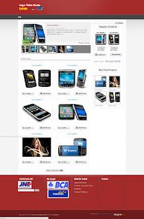 homepage template kanggo blonjo