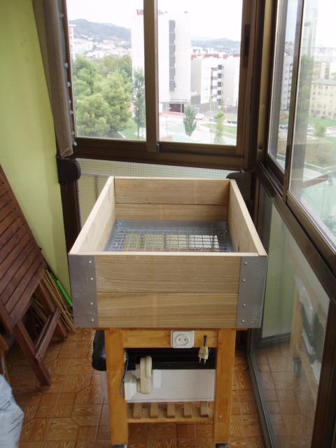 Nuestra nueva mesa de cultivo el balcon verde - Drenaje mesa de cultivo ...