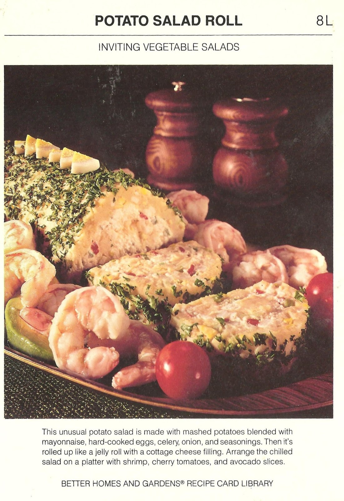 Bad and ugly of retro food new collection and recap recipe cards 19 unusal and made with mashed potatoes mayonaise hard cooked eggs celery onion seasoning rolled like a jelly roll with a cottage cheese filling forumfinder Choice Image
