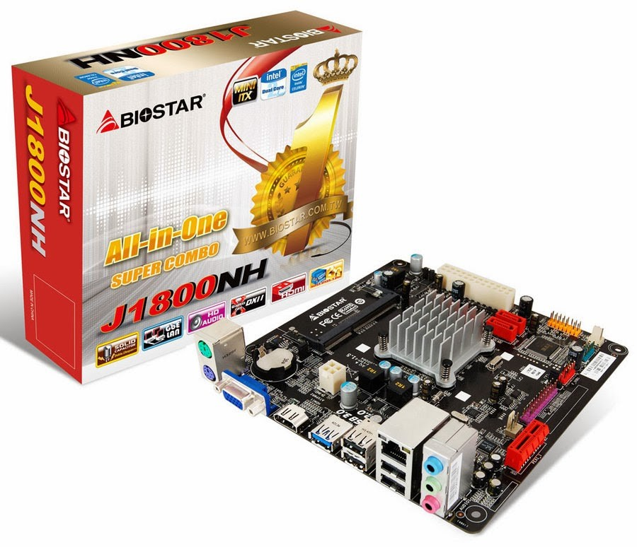 BIOSTAR J1800NH mini-ITX Motherboard
