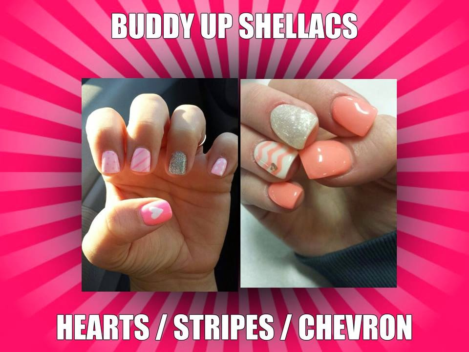Buddy-Up-Shellac-special-heart-stripes-chevron-pink-and-peach-nail-art