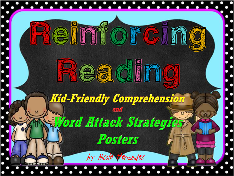 http://www.teacherspayteachers.com/Product/Reinforcing-Reading-Comprehension-and-Word-Attack-Strategies-Posters-1357597