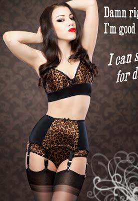 lingerie rétro léopard