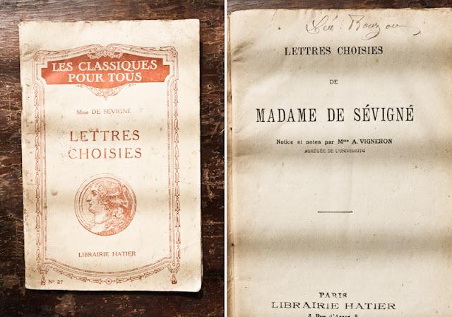 Vintage Madame de Sevigne book of letters