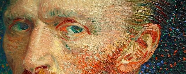 Detail | Self-Portrait (1887) | Vincent Van Gogh